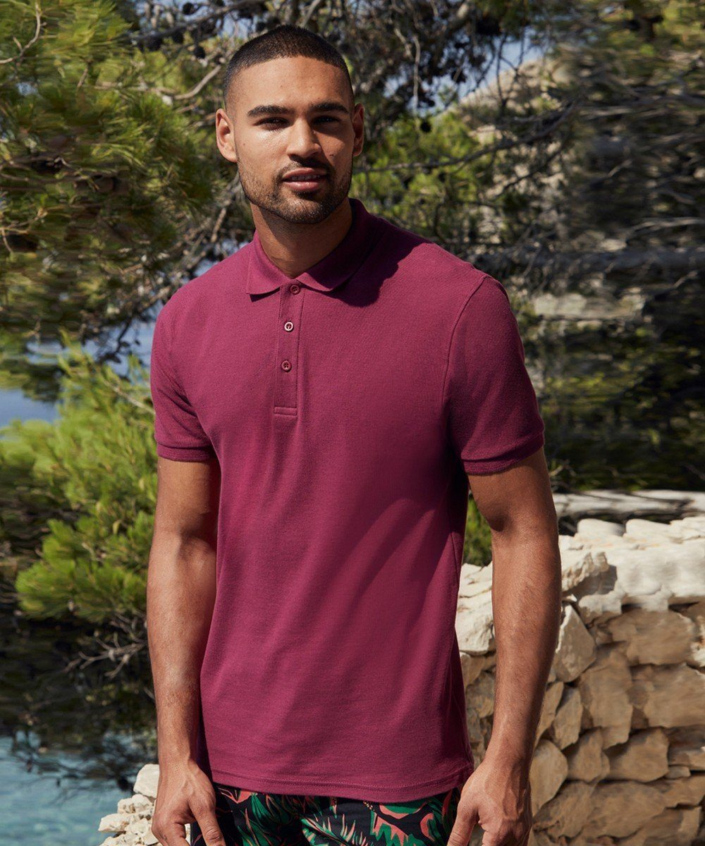 PPG Workwear Fruit Of The Loom Premium Polo Shirt 63218 Burgundy Colour