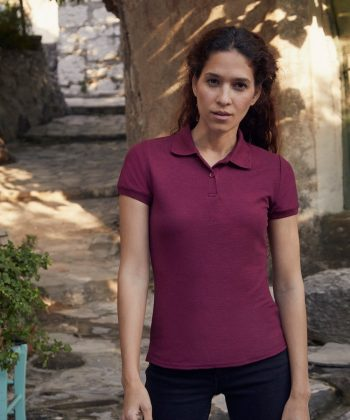 Fruit Of The Loom Lady-Fit 65/35 Polo Shirt 63212 Burgundy Colour