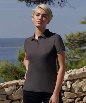 Fruit Of The Loom Lady-Fit Premium Polo Shirt 63030 Light Graphite Grey Colour