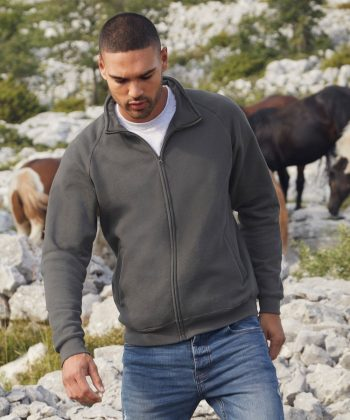 Fruit Of The Loom Classic Sweat Jacket 62230 Light Graphite Colour