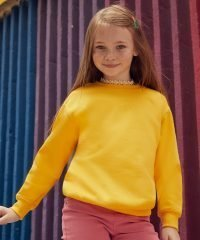 Fruit Of The Loom Kids Classic Set-in Sleeve Sweatshirt 62041 Sunflower Colour
