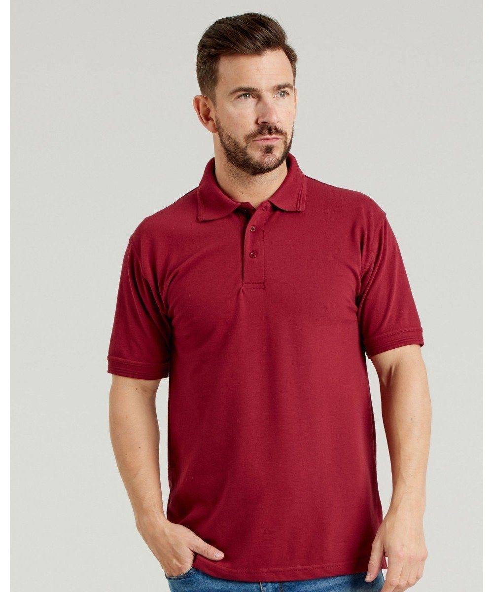 PPG Workwear UCC Heavyweight Pique Polo Shirt UCC004 Burgundy Colour