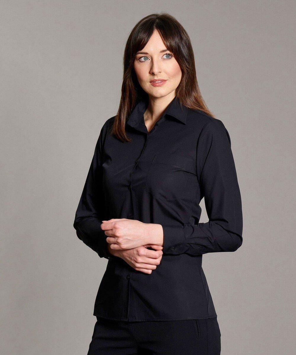 Williams Womens Classic Blouse Black Colour Long Sleeve