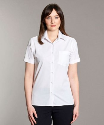 Williams Womens Classic Blouse White Colour Short Sleeve