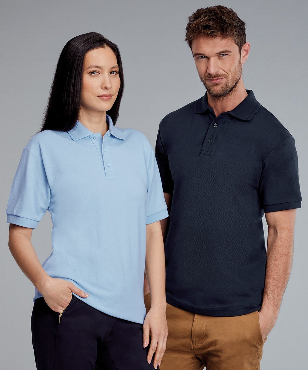 PPG Workwear Disley Premium Polo Shirt CP19 Sky and Navy Colours
