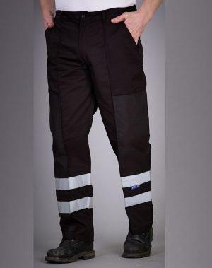 PPG Workwear Yoko Reflective Ballistic Trousers BS015T Black Colour