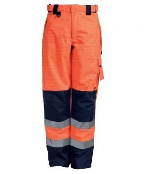 PPG Workwear Elka Securetech FR Multinorm Trousers 082450R Orange and Navy Blue Colour
