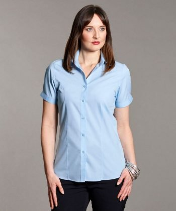 Disley Womens Stripe Blouse light Blue Colour Short Sleeve