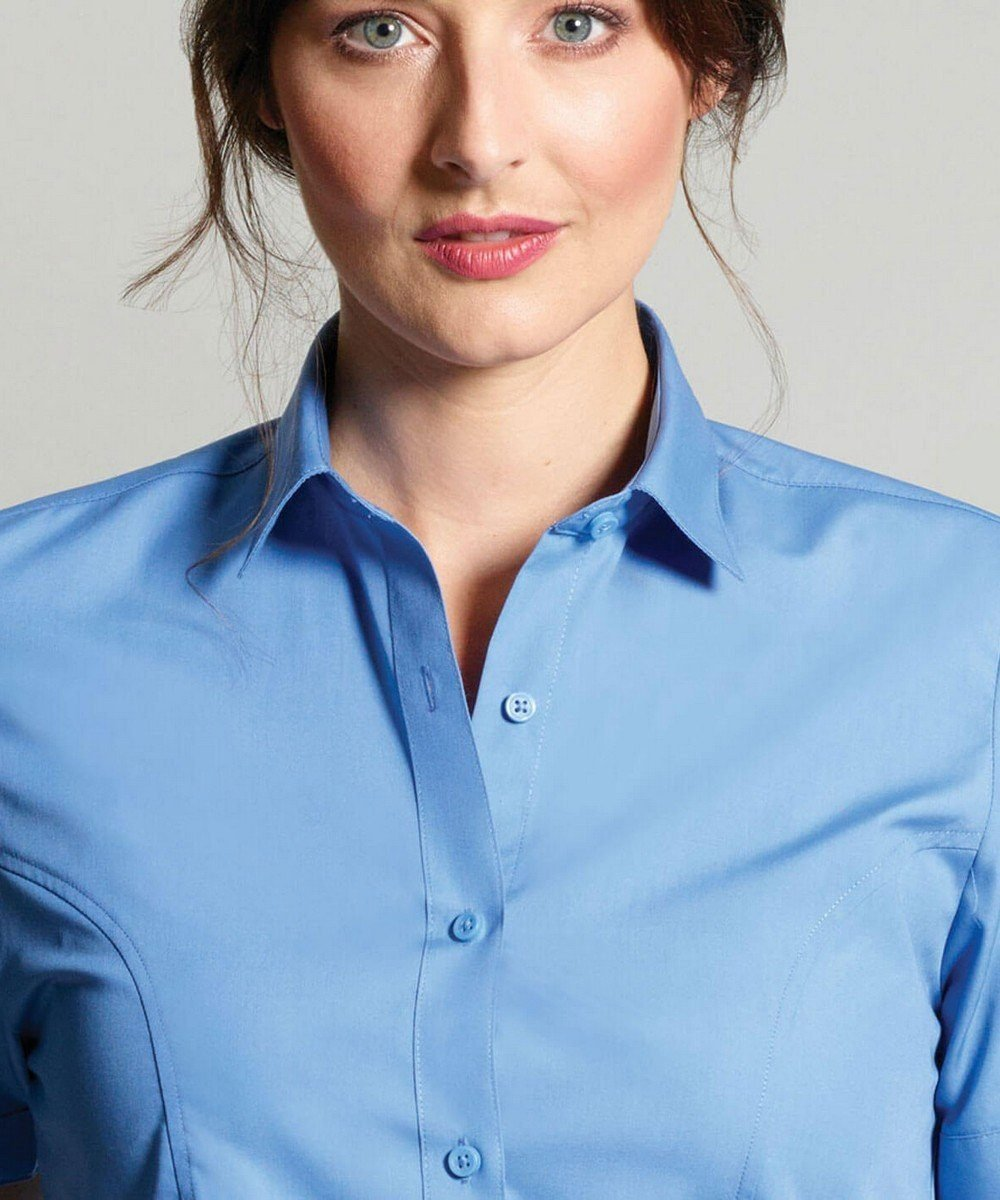 PPG Workwear Disley Womens Stripe Blouse Mid Blue Colour