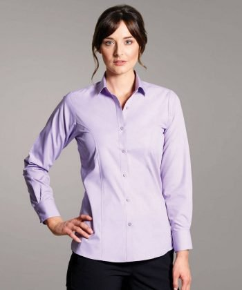 Disley Womens Stripe Blouse Lilac Colour Long Sleeve