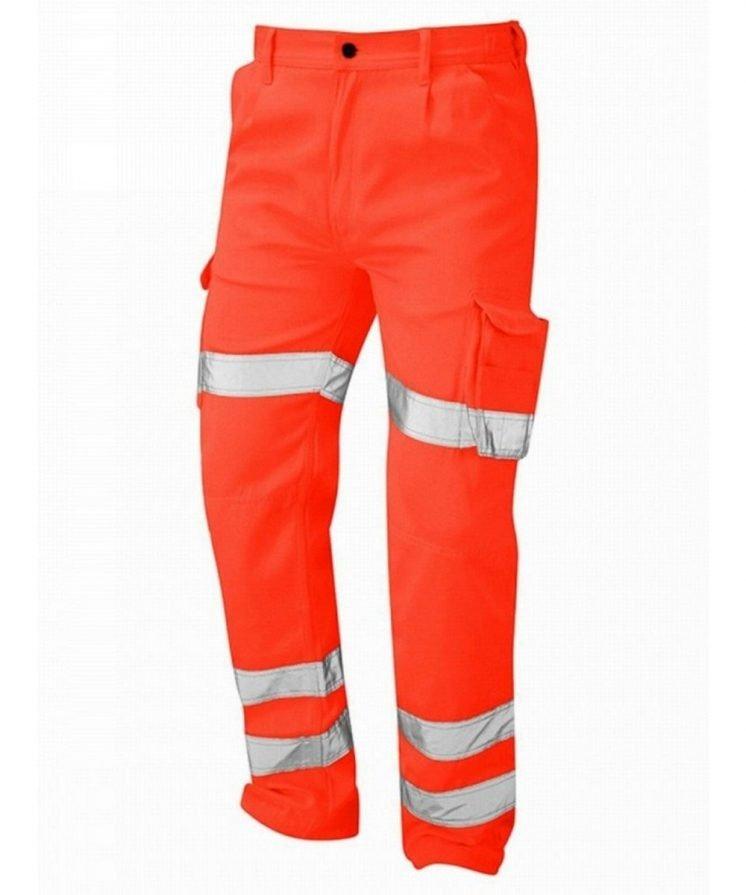 PPG Workwear Orn Deluxe Hi Vis Condor Cargo Trouser Orange Colour 6700