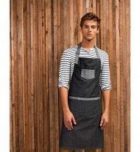 PPG Workwear Premier Domain Contrast Denim Bib Apron PR127 Indigo Denim Colour