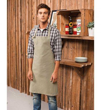 PPG Workwear Premier Calibre Bib Apron PR130 Khaki Colour