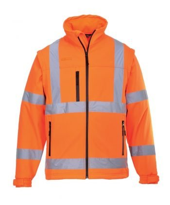 PPG Workwear Portwest Hi Vis Softshell Jacket S428 Orange Colour