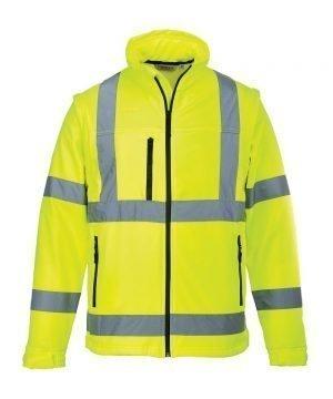 PPG Workwear Portwest Hi Vis Softshell Jacket S428 Yellow Colour