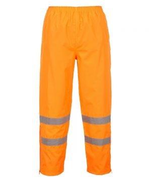 PPG Workwear Portwest Hi Vis Breathable Waterproof Trousers Orange Colour S487