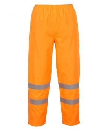 PPG Workwear Portwest Hi Vis Breathable Waterproof Trousers Orange Colour S487