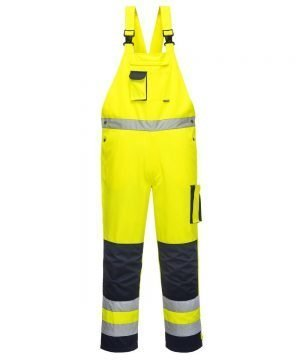 PPG Workwear Portwest Texo Hi Vis Bib/Brace Yellow and Navy Colour TX52