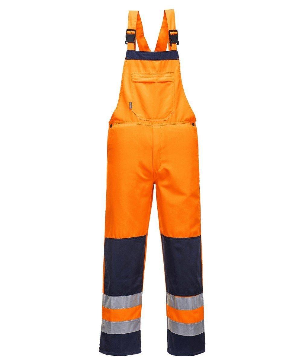 PPG Workwear Portwest Texo Girona Hi Vis Bib/Brace Orange and Navy Colour TX72