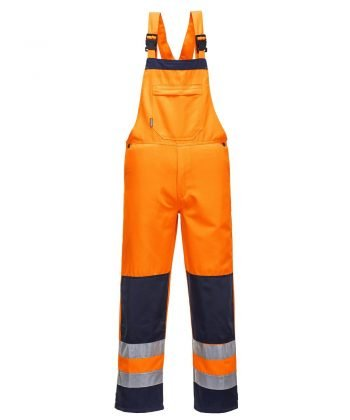 PPG Workwear Portwest Texo Girona Hi Vis Bib/Brace Orange and Navy Colour TX72