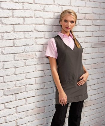 Premier Wrap Around Tabard PR177 Grey Colour Front View