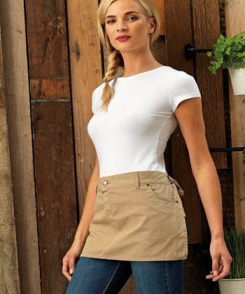PPG Workwear Premier Cotton Chino Waist Apron PR133 Khaki Colour