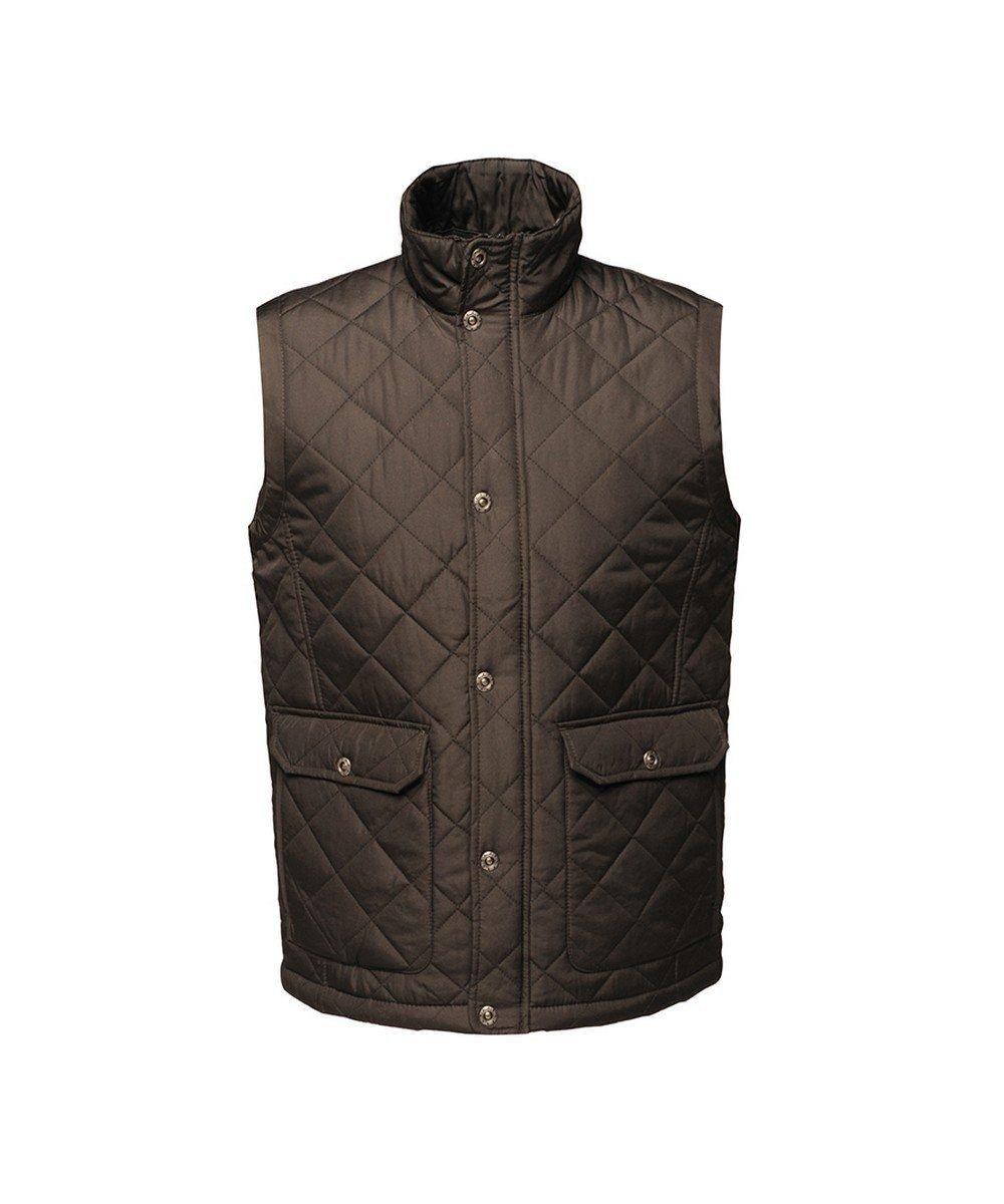 PPG Workwear Regatta Tyler Diamond Quilt Bodywarmer TRA810 Black Colour