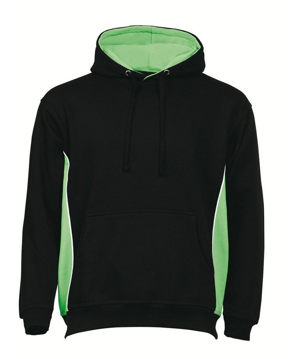 PPG Workwear Orn Silverswift Two Tone Premium Hoodie 1295 Black and Lime Colour