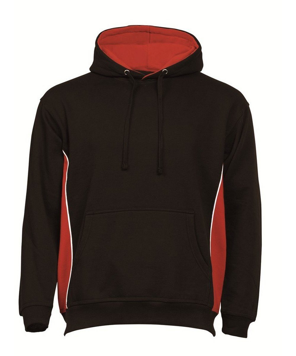 PPG Workwear Orn Silverswift Two Tone Premium Hoodie 1295 Black and Red Colour