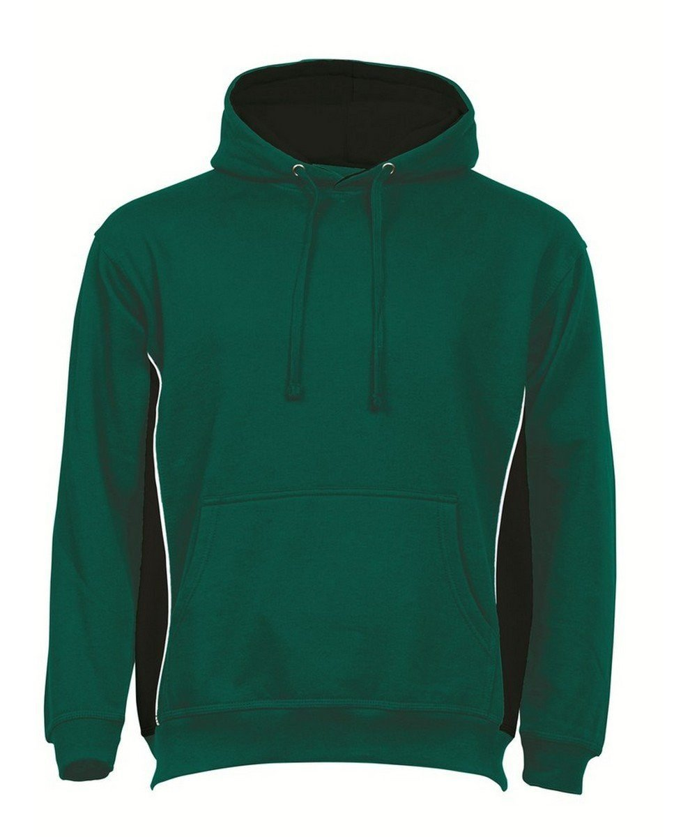 PPG Workwear Orn Silverswift Two Tone Premium Hoodie 1295 Bottle Green and Black Colour