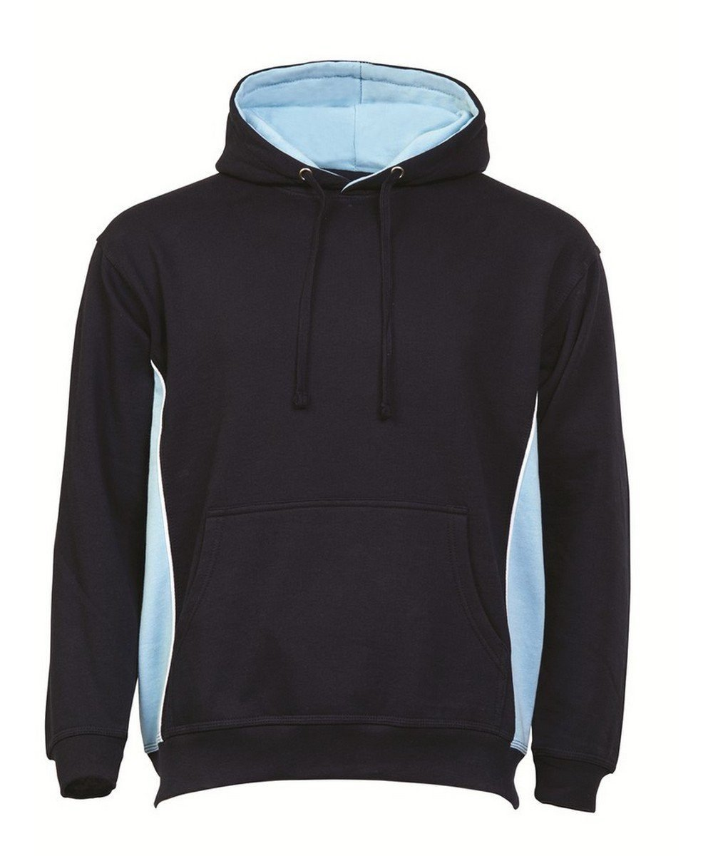 PPG Workwear Orn Silverswift Two Tone Premium Hoodie 1295 Navy Blue and Sky Blue Colour