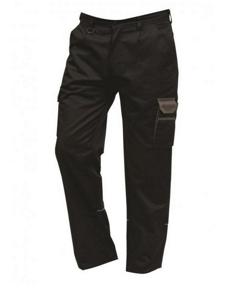 ORN Two Tone Contrast Combat Trousers 2580 Black Colour with Graphite Grey Trim