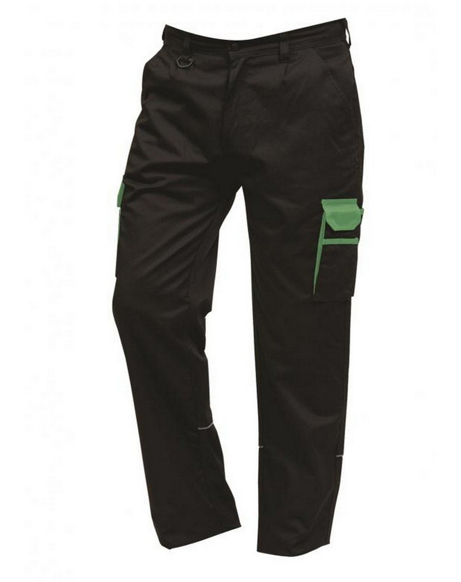 PPG Workwear ORN Two Tone Contrast Combat Trousers 2580 Black Colour with Lime Trim