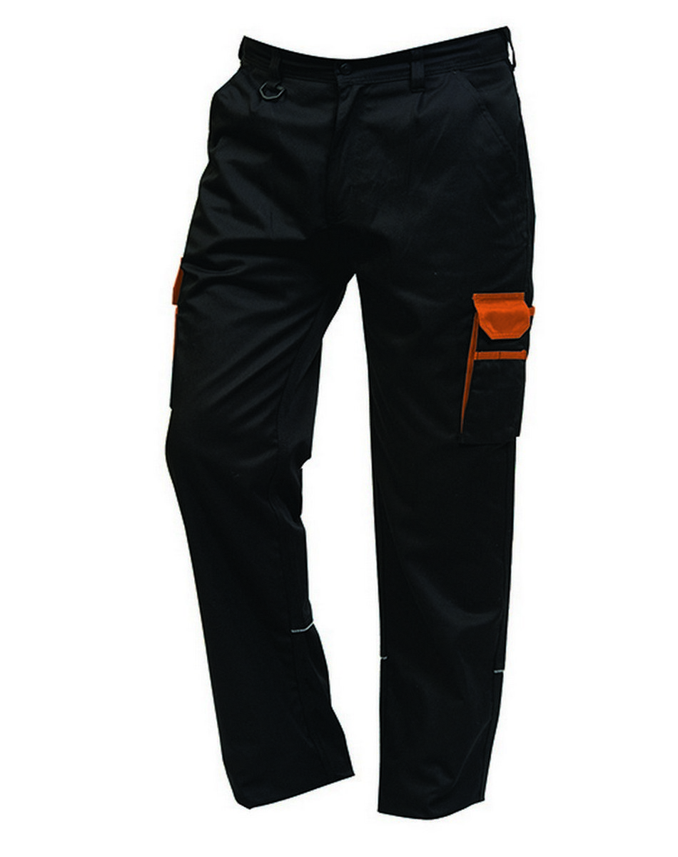ORN Two Tone Contrast Combat Trousers 2580 Black Colour with Orange Trim