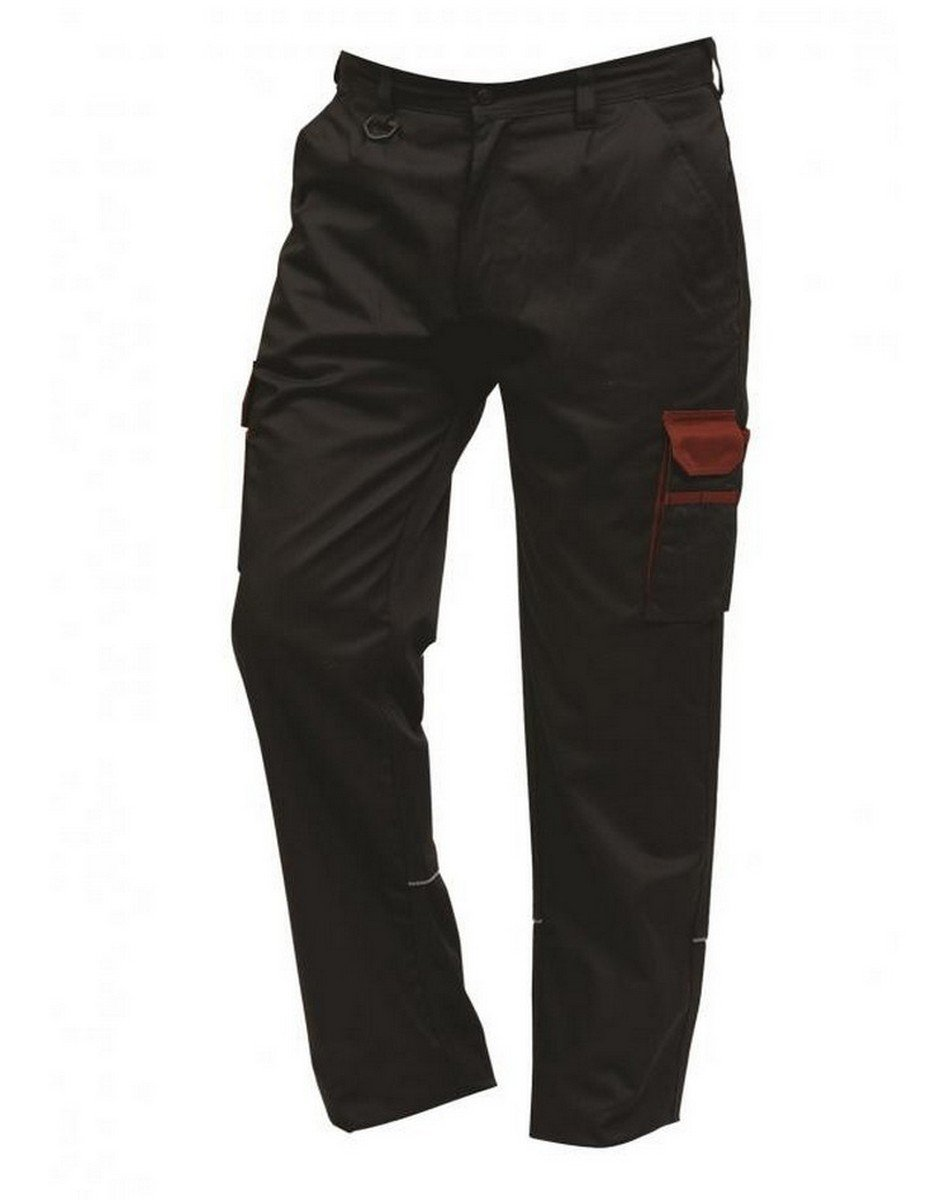 PPG Workwear ORN Two Tone Contrast Combat Trousers 2580 Black Colour with Red Trim