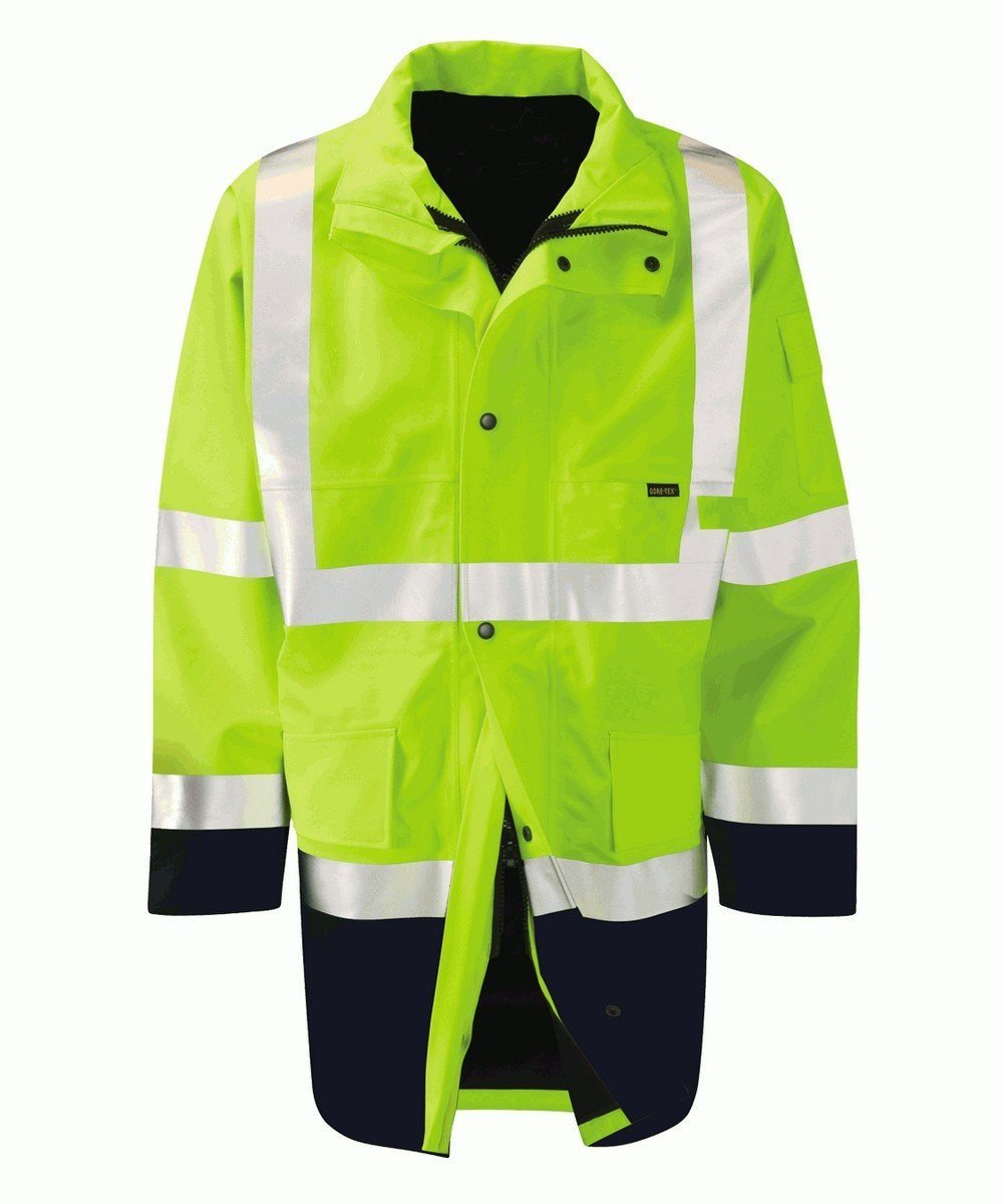 PPG Workwear Orbit Gore-Tex Congo Two Tone Hi Vis Jacket GB2FWTT Yellow and Navy Colour