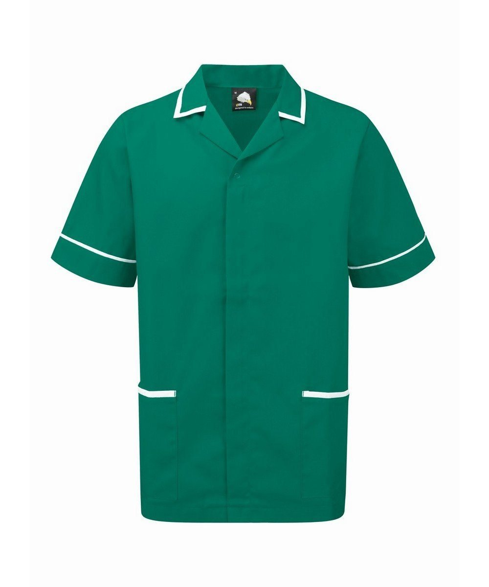 Orn Darwin Mens Tunic 8500 Bottle Green Colour with White Trim