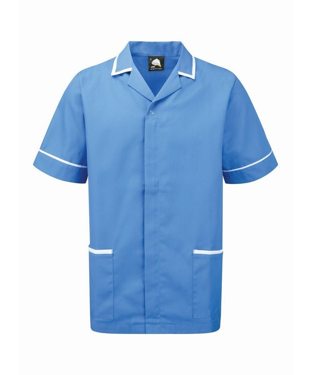 Orn Darwin Mens Tunic 8500 Hospital Blue Colour with White Trim