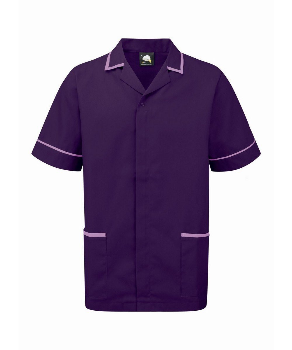 PPG Workwear Orn Darwin Mens Tunic 8500 Purple Colour with Lilac Trim