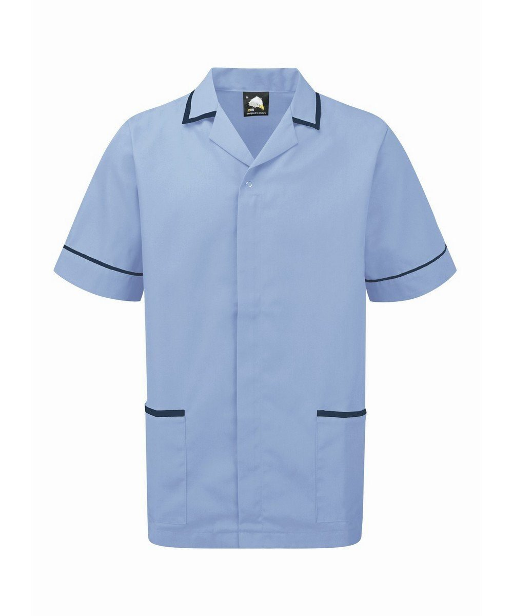 Orn Darwin Mens Tunic 8500 Sky Blue Colour with Navy Blue Trim