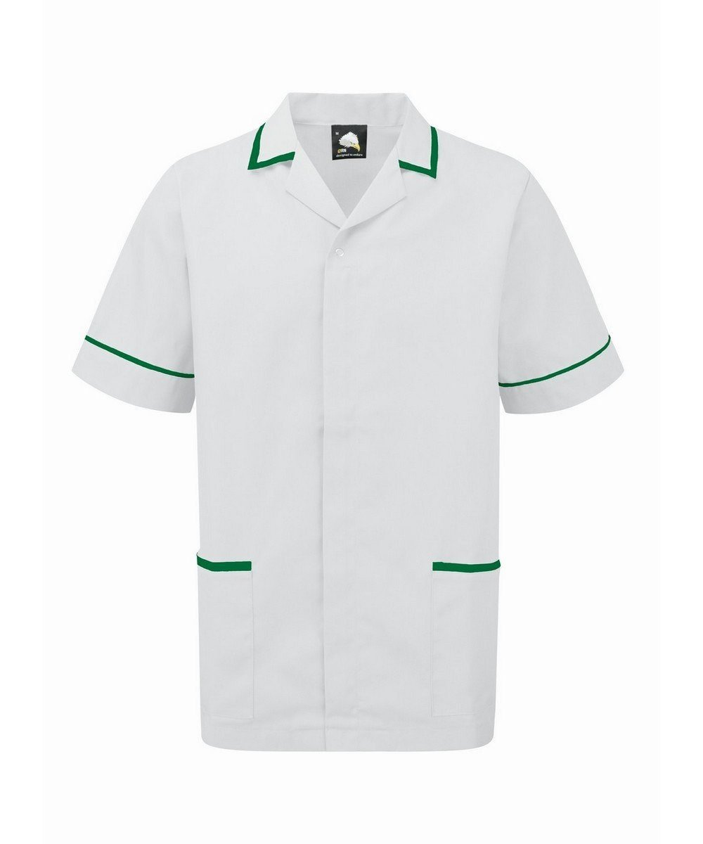 Orn Darwin Mens Tunic 8500 White Colour with Bottle Green Trim