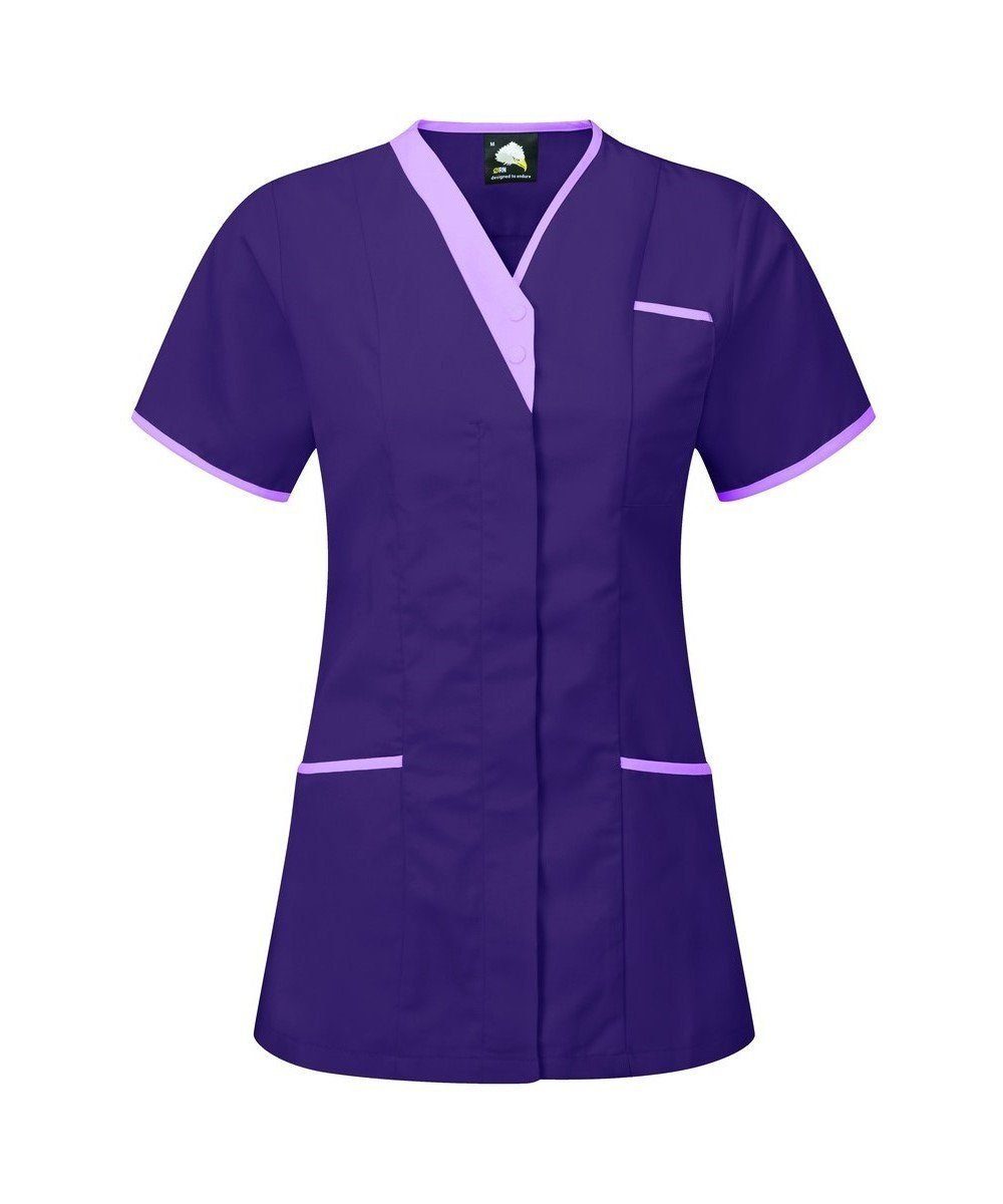 PPG Workwear Orn Tonia V-Neck Tunic 8200 Purple Colour with Lilac Trim