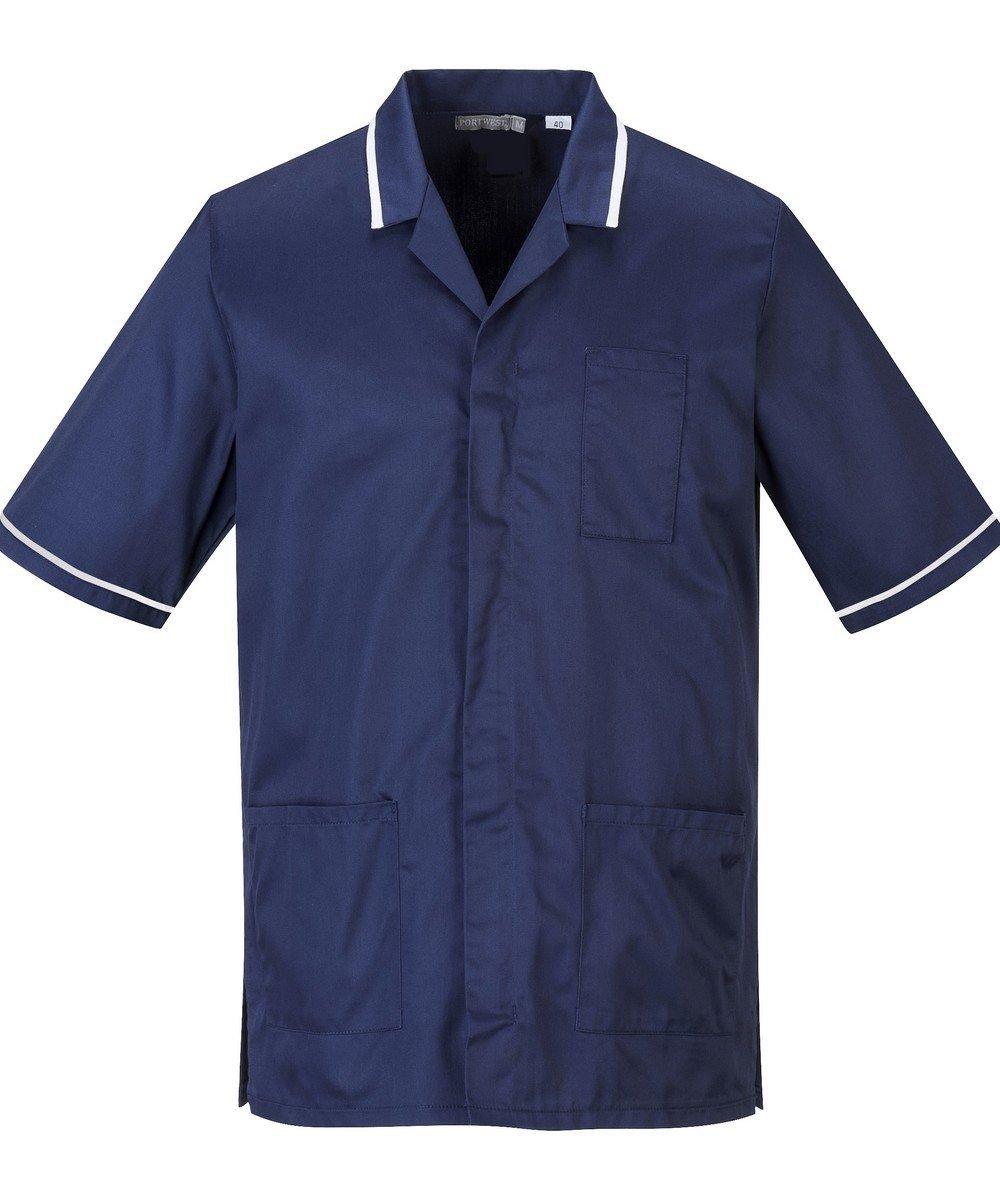 Portwest Mens Healthcare Tunic C820 Navy Blue Colour with White Trim