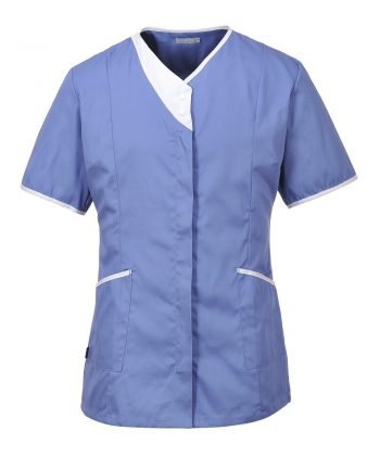 Portwest Modern Healthcare Tunic LW13 Hospital Blue Colour with White Trim