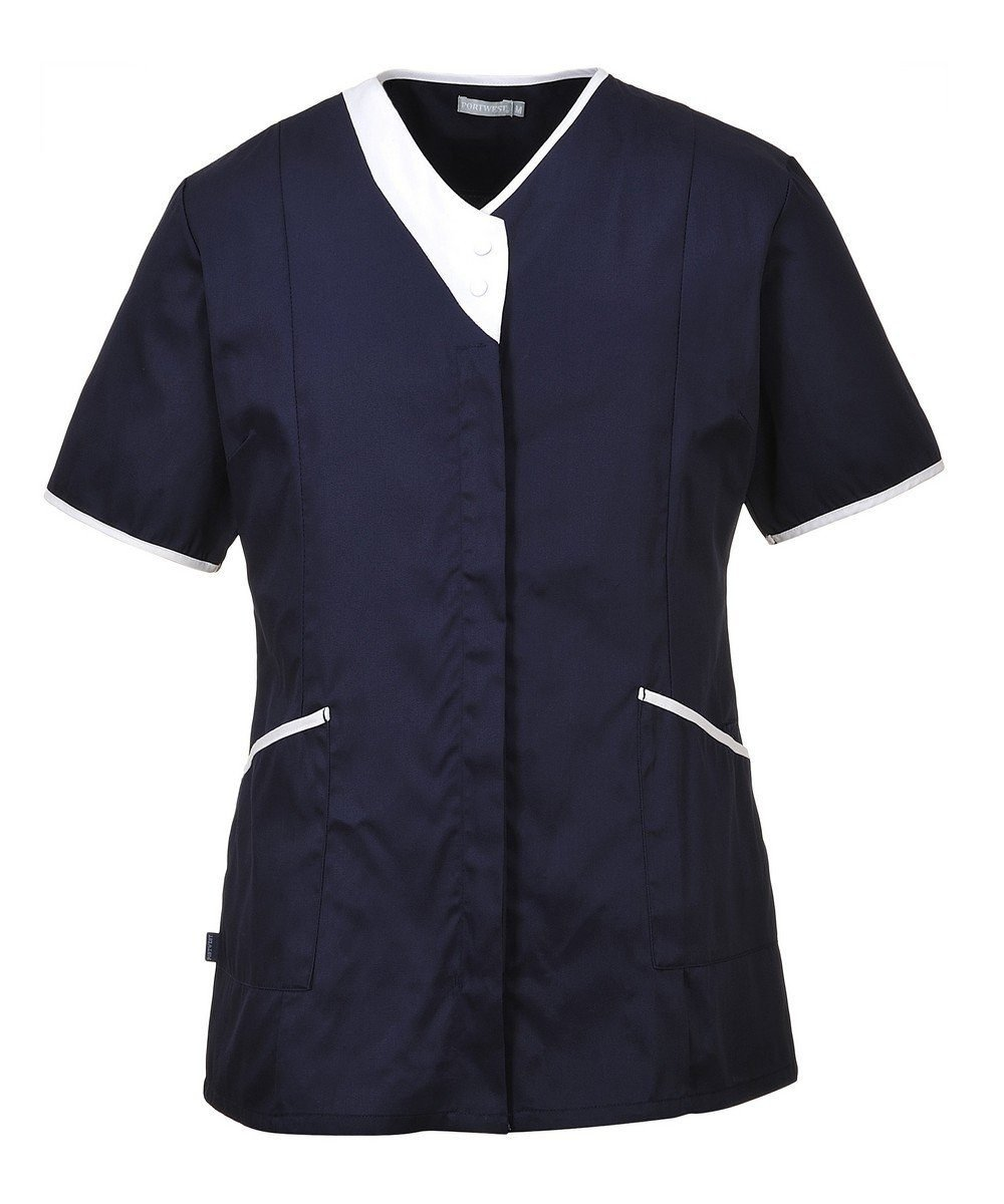 Portwest Modern Healthcare Tunic LW13 Navy Blue Colour with White Trim