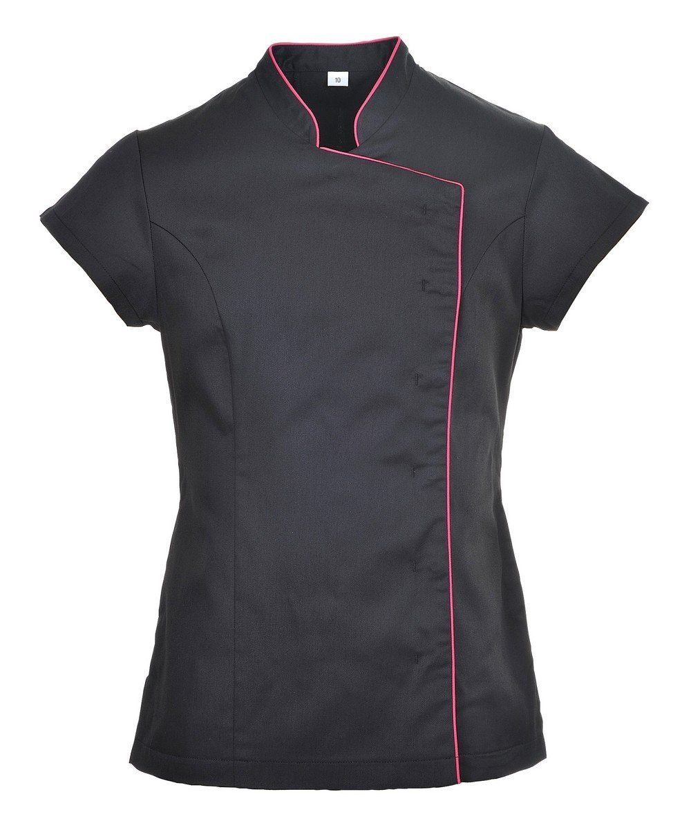 Portwest Wrap Healthcare Tunic LW15 Black Colour with Red Trim