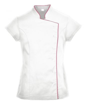 Portwest Wrap Healthcare Tunic LW15 White Colour with Red Trim
