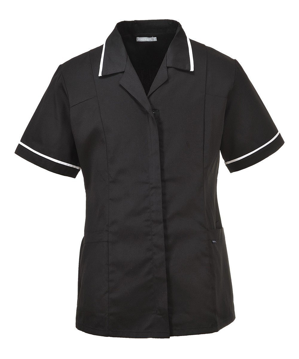 PPG Workwear Portwest Classic Healthcare Tunic LW20 Black Colour with White Trim