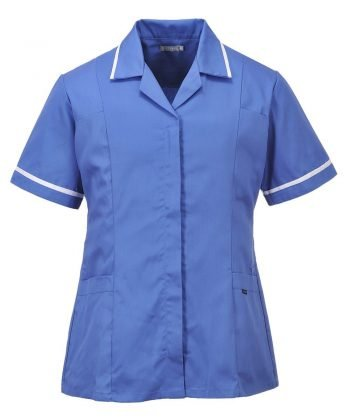Portwest Classic Healthcare Tunic LW20 Hospital Blue Colour with White Trim