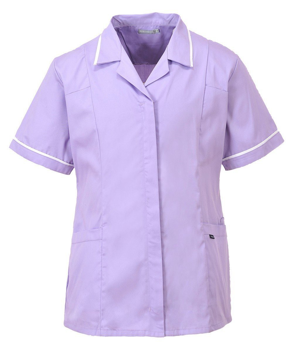 PPG Workwear Portwest Classic Healthcare Tunic LW20 Lilac Colour with White Trim
